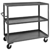 Jamco Heavy Duty Steel Shelf Truck CC136 3 Shelves 36 x 18 3000 Lb. Capacity