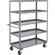 Jamco Heavy Duty Shelf Truck CE136 5 Shelves 36x18 3000 Lb. Capacity