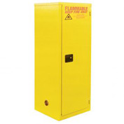 "Global&#8482 Slim Flammable Cabinet BA18 - Manual Close Single Door 18 Gallon - 23""W x `18""D x 44""H"