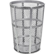 Global™ Outdoor Metal Trash Container Galvanized, 48 Gallon
