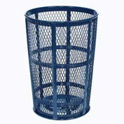 Outdoor Metal Trash Container Blue