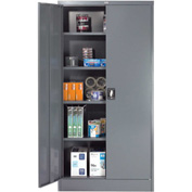 "Global™ Steel Storage Cabinet Recessed Handle 36""W x 18""D x 72""H Gray Easy Assembly"