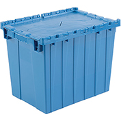 Plastic Shipping Container - Hinged Lid Storage DC2115-17 21-7/8 x 15-1/4 x 17-1/4 Blue