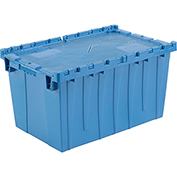 Plastic Shipping Container - Hinged Lid Storage DC2515-14 24-1/2 x 14-7/8 x 13-3/4 Blue