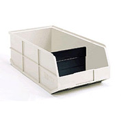 "AkroBins® 1800 Series 30348 - Stackable Shelf Bin 8-1/4""W x 20-1/2""D x 7""H Beige w/One Divider - Pkg Qty 6"