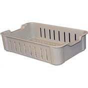 "Molded Fiberglass Toteline Stacking Wash Box 819048 - 17-3/4""L x 10-1/2""W x 4-1/8""H, Gray"