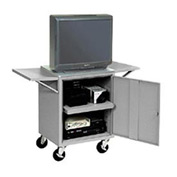 Set Of 2 Gray Side Shelves For Security Audio Visual Cart