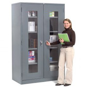 Global™ Clear View Storage Cabinet Assembled 48x24x78 - Gray