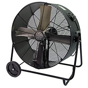 TPI PBS48B,48 Inch Portable Blower Fan Belt Drive Swivel Base 1 HP 14400 CFM