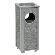 "Global™ Stone Panel Trash Sand Urn Gray 10-1/4"" Square X 24""H"