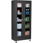Sandusky Mobile Clear View Storage Cabinet TA4V462472 - 46x24x78, Black
