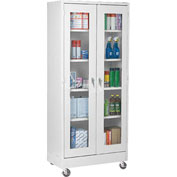 Sandusky Mobile Clear View Storage Cabinet TA4V462472 - 46x24x78, Light Gray