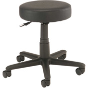 Shop Stool - Vinyl - Black