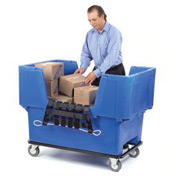 Dandux Blue Easy Access 18 Bushel Plastic Mail & Box Truck 51166718U-5S with Cargo Net