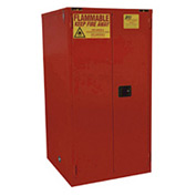 "Global&#8482 Paint & Ink Storage Cabinet - Manual Close Double Door 96 Gallon - 34""W x 34""D x 65""H"