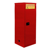 "Global&#8482 Paint & Ink Storage Cabinet - Self Close Single Door 36 Gallon - 23""W x 18""D x 65""H"