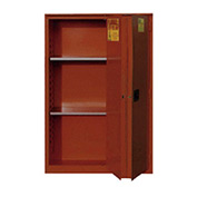 "Global&#8482 Paint & Ink Storage Cabinet - Manual Close Bi-Fold Single Door 48 Gallon - 43""W x 18""D"