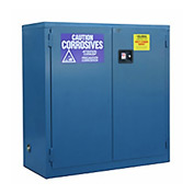 "Global™ Acid Corrosive Cabinet - Self Close Double Door 30 Gallon - 43""W x 18""D x 44""H"
