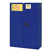 "Global&#8482 Acid Corrosive Cabinet - Self Close Double Door 45 Gallon - 43""W x 18""D x 65""H"