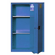 "Global&#8482 Acid Corrosive Cabinet - Manual Close Bi-Fold Single Door 30 Gallon - 43""W x 18""D x 44"""