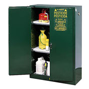 Pesticide Cabinet Self Close Double Door 45 Gallon