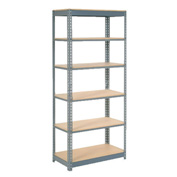 "Heavy Duty Shelving 36""W x 12""D x 72""H With 6 Shelves, Wood Deck"