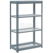 """Heavy Duty Shelving 36""""W x 24""""D x 72""""H With 4 Shelves, Wire Deck"""