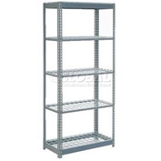 "Heavy Duty Shelving 36""W x 12""D x 72""H With 5 Shelves, Wire Deck"