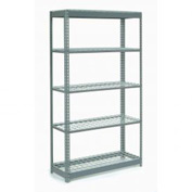 "Heavy Duty Shelving 48""W x 24""D x 72""H With 5 Shelves, Wire Deck"