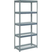 "Extra Heavy Duty Shelving 36""W x 12""D x 72""H With 5 Shelves, Wire Deck"