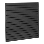 "Steel Slatwall Panel 48""H X 96""W Black - Pkg Qty 4"