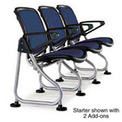 Modular Reception Seating Row Starter Seat Navy