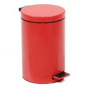Global™ 3-1/2 Gallon Step On Trash Can - Red