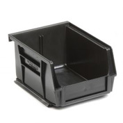 Premium Plastic Stacking Bin 4-1/8 X 5-3/8 X 3 Black - Pkg Qty 24