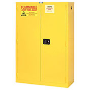 "Global&#8482 Flammable Cabinet - 44 Gallon - Self Close Double Door - 34""W x 18""D x 65""H"