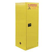"Global&#8482 Slim Flammable Cabinet BA60 - Manual Close Single Door 60 Gallon - 23""W x 34""D x 65""H"