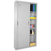 Sandusky Sliding Door Counter Height Storage Cabinets BA4S361872 - 36x18x72, Gray