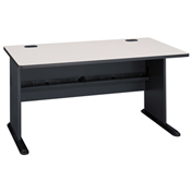 60 Inch Desk in Slate Frame with Gray Surface - Modular Office Furniture