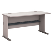 "Bush Furniture Wood Office Desk - 60"" - Pewter"