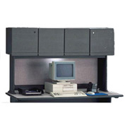 60 Inch Hutch in Slate Frame with Gray Surface - Modular Office Furniture