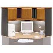 Corner Hutch in Cherry - Modular Office Furniture