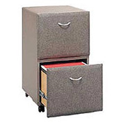 Two Drawer File in Pewter - Modular Office Furniture