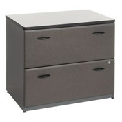 Bush Furniture Lateral File Cabinet (Unassembled) - Gray - Series A