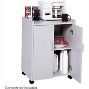 Safco Wood Mobile Refreshment Center Cart, Gray - 8953GR