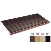 "Vinyl Tread Rib Pattern 60""W Brown - Pkg Qty 4"