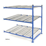 "UNEX Flow Cell Heavy Duty Gravity Rack Add-On 72""W x 72""D x 72""H with 3 Levels"