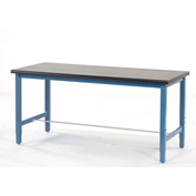 "72""W x 30""D Production Workbench - Phenolic Resin Safety Edge - Blue"