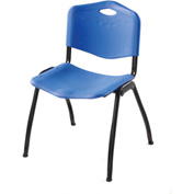 Oakmont Plastic Stackable Chair - Blue - Pkg Qty 4