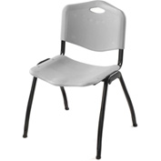 Oakmont Plastic Stackable Chair - Gray - Pkg Qty 4