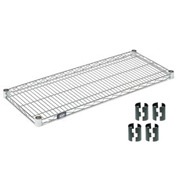 "Nexel S1836C Chrome Wire Shelf 36""W x 18""D with Clips"